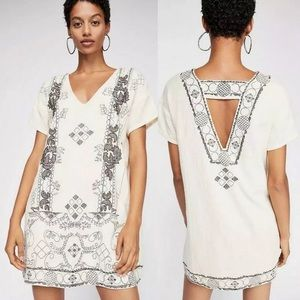 Free People Dresses - Free People Beaded Embroidered Twill Shift Dress